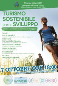 Turismo sostenibile per lo sviluppo @ Palazzo San Severino-Falcone | Acri | Calabria | Italia